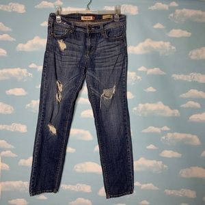 Eunina- Low Rise Skinny Distressed Jeans size 9